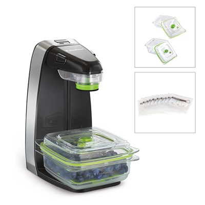 FoodSaver Vertical Vacuum Sealer with 3 x Containers and 5 Vacuum Zipper Bags