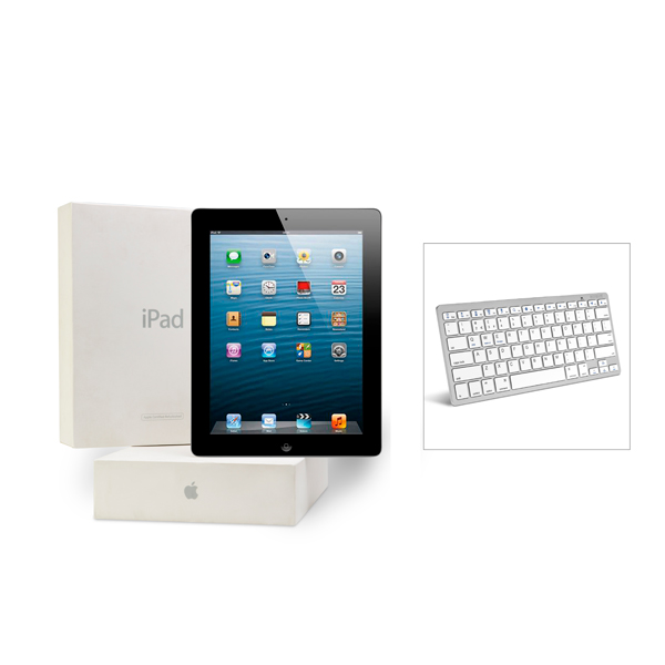 Apple iPad 3 64GB 3G Black (Certified Refurbished) with Bluetooth Keyboard No Colour