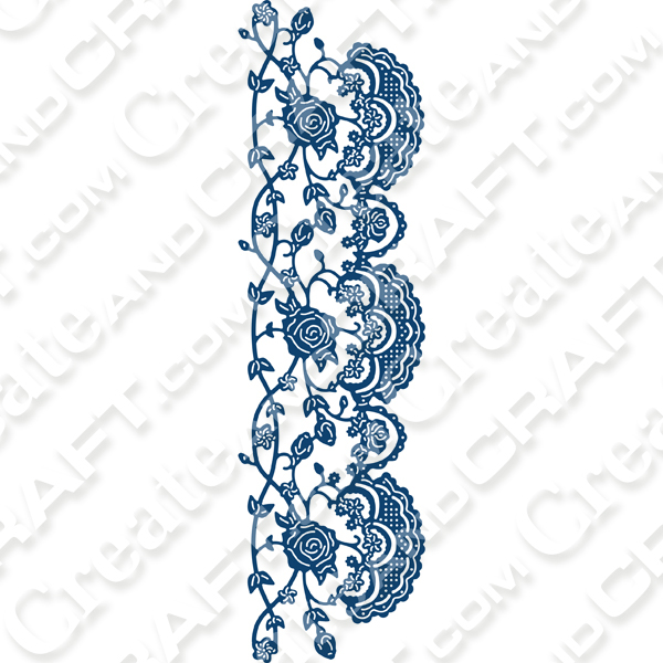 Tattered Lace Ornamental Lace Treillage Die No Colour