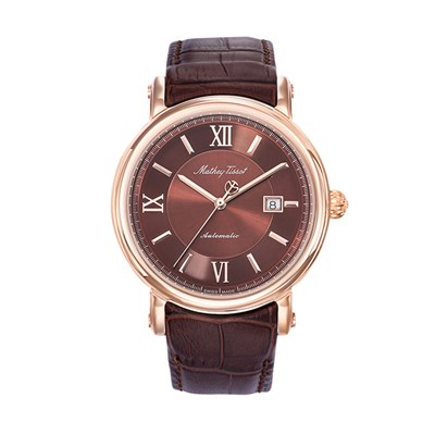 Mathey-Tissot Gents Renaissance Automatic Watch with Genuine Leather Strap