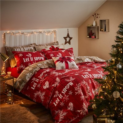 Christmas Garland Single Size Quilt Set
