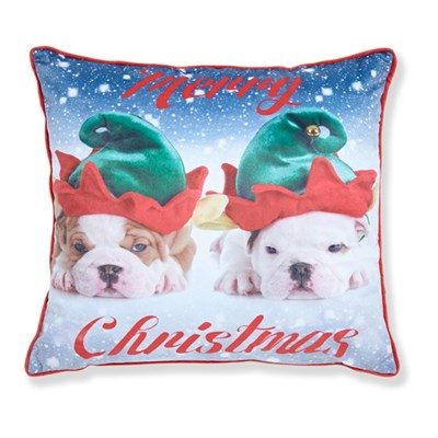 Merry Christmas Dogs Cushion Cover (43 x 43cm)