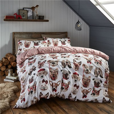 Dapper Dogs King Size Quilt Set