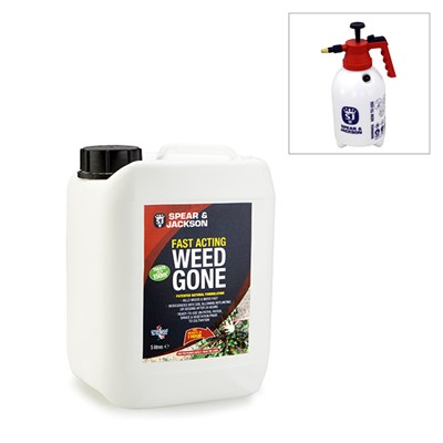 Spear & Jackson 5L Fast Acting Weed Gone and 2L Sprayer