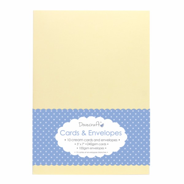 Dovecraft Cream 5x7 Cards & Envelopes - Pack of 50 No Colour