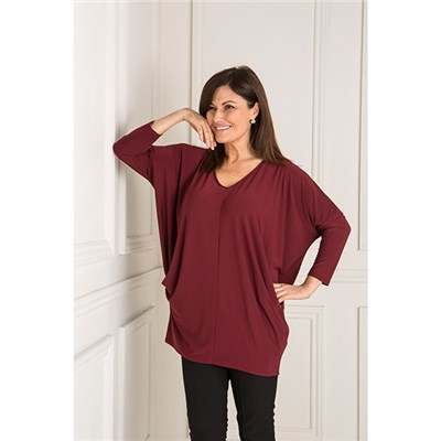 Styled By V-Neck Batwing Top with Pockets