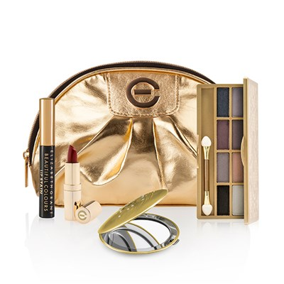 Elizabeth Grant Glamsquad Collection Lip Stick, Lipstain, Eyeshadow Palette, Compact Mirror & Cosmetic Bag