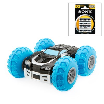 Double Side Tornado Remote Controlled Stunt Car with 4 x AA Batteries