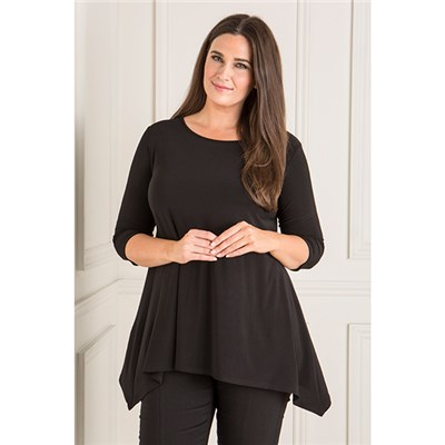 Reflections Plain Dip Hem Tunic with 3/4 Sleeves
