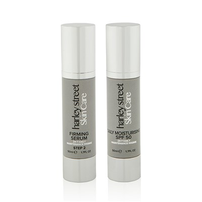 Harley Street Skin Care Daily Maintenance Firming Serum and Daily Moisturising SPF50