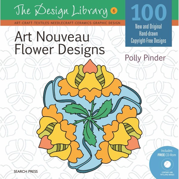 ISBN 9781844488414 Art Nouveau Flower Designs (DL06) No Colour