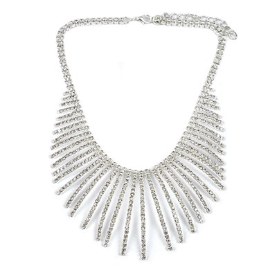 Diamante Effect Statement Necklace