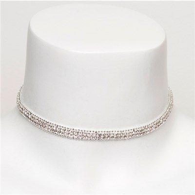 Diamante Effect Choker Necklace