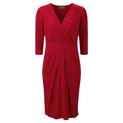 Lavitta Jersey 3/4 Slv Wrap Dress 41in
