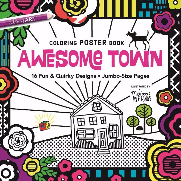 ISBN 9781617455421 Awesome Town Coloring Poster Book No Colour
