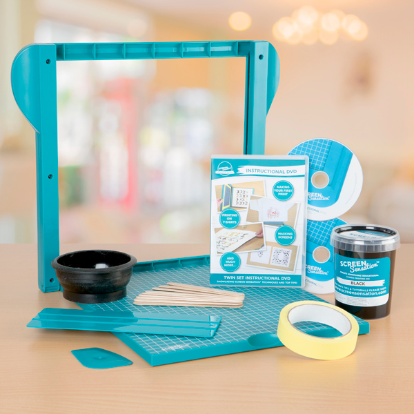 Screen Sensation Essential Kit - Includes Screen Sensation Kit, Black Ink, Fixing Tape and Twin Set DVD No Colour