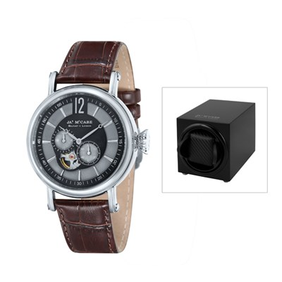 James McCabe Lurgan Gent's Automatic with Leather Strap and FREE Watch Winder