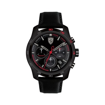 Scuderia Ferrari Gent's Primato Chronograph Watch with Genuine Leather Strap