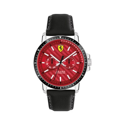 Scuderia Ferrari Gent's Turbo Watch with Genuine Leather Strap