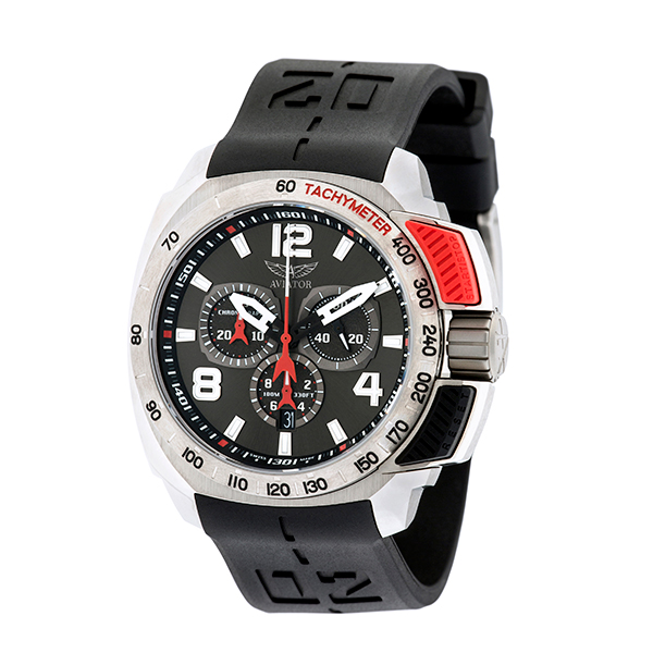 Aviator Swifts Gent's Limited Edition Front Button Chronograph with Interchangeable Strap Red