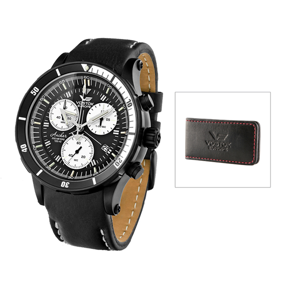 £150 off Vostok Europe Gent's Chronograph Anchar Watch with PVD Plated Case and Interchangeable Strap