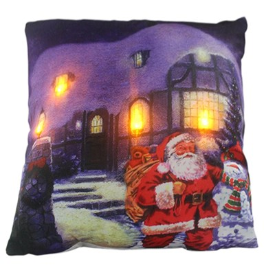 Santa Visit LED Cushion