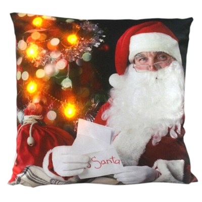 Santa Reading LED Cushion