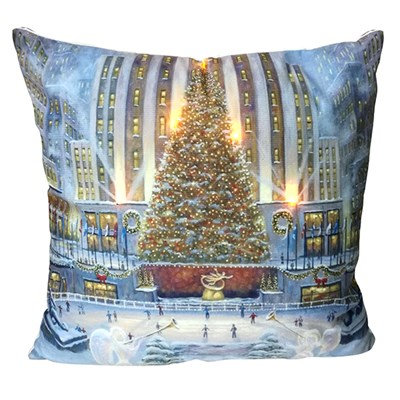 Christmas Tree LED Cushion