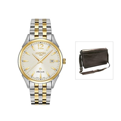 Roamer of Switzerland Swiss Automatic with FREE Leather Messenger Bag