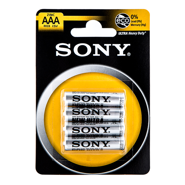 Sony AAA Batteries (4 Pack) No Colour