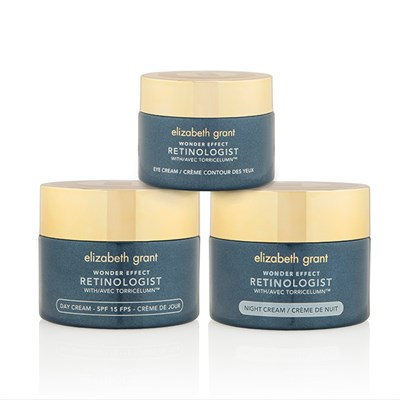 Elizabeth Grant Wonder Effect Supersize Retinologist 3 Piece Collection Day Cream 100ml, Night Cream 100ml, Eye Cream 50ml