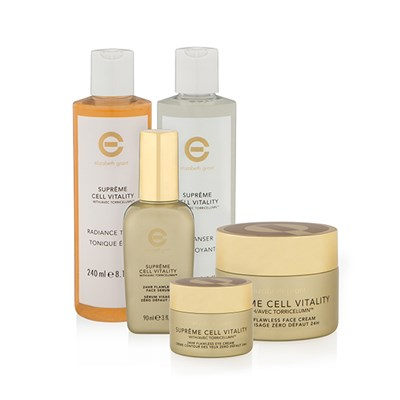 Elizabeth Grant New Supreme Cell Vitality 5pc Collection Face 100ml, Eye 30ml, Serum 90ml, Cleanser 240ml, Toner 240ml