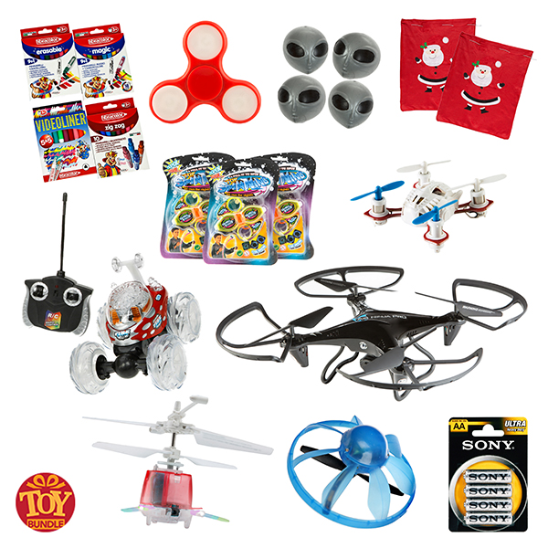 Childrens Mega 18 Piece Toy Bundle with 2 x Santa Sacks No Colour