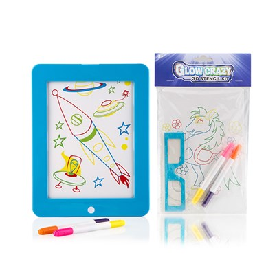 Glow Crazy Light Up Creative Board with Stencil Kit