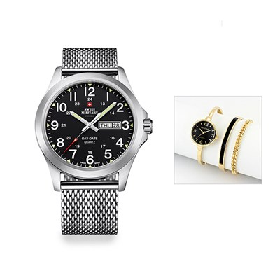 Swiss Military Gent's Watch with Milanese Bracelet with FREE Ladies' Watch