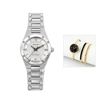 Mathey-Tissot Ladies' Elisir LE with Case and FREE Ladies' Watch