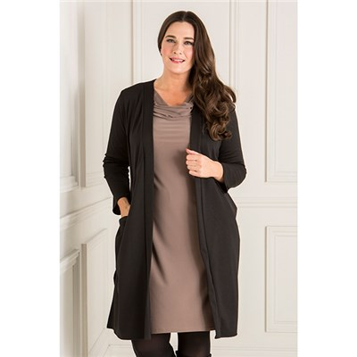 Nicole Ponte Longline Jacket with Pockets