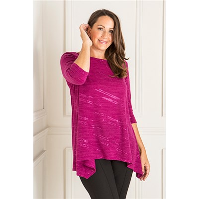 Reflections Sequin Dip Hem Tunic