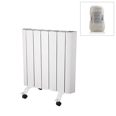 EEPC 1000w Ceramic Radiator with Smart Control and Large Deluxe Waffle Throw