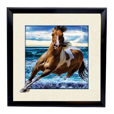 Horse Tide 5D Illusion Framed Art 40cm x 40cm