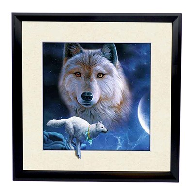 Snow Wolves 5D Illusion Framed Art 40cm x 40cm