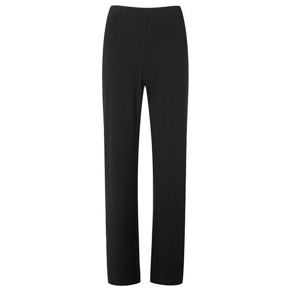 Lavitta Wide Leg Jersey Trouser 29In Black