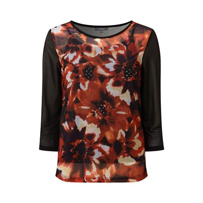 Lavitta Autumn Floral Chiffon Top plus Cami 26in