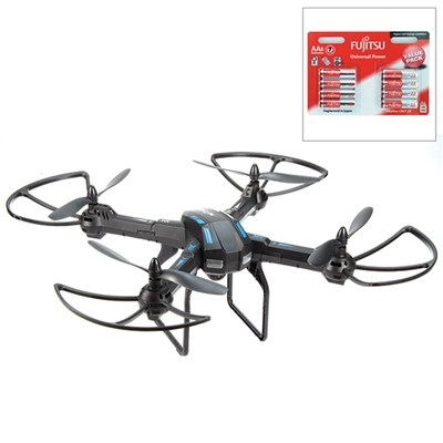 Rotorz RT12 Quadcopter Drone with HD Video Camera with 8 x AA Batteries