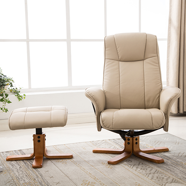 Incredible Monaco Recliner Leather Armchair And Footstool Arm Designs Machost Co Dining Chair Design Ideas Machostcouk