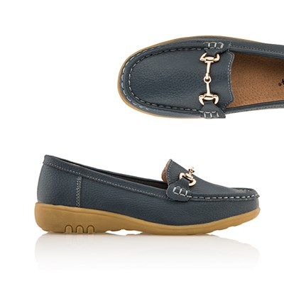 Cushion Walk Comfort Bar Detail Leather Loafer