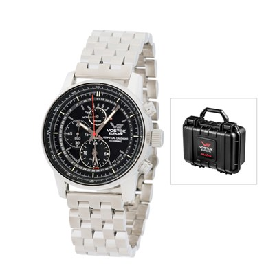 Vostok Europe Gent's GAZ-14 All Timer Watch with Stainless Steel Bracelet and Dry Box