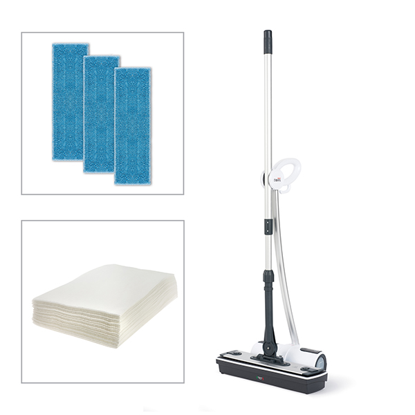 Polti Moppy Cordless Steam Cleaner And Additional Floor