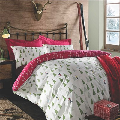 Chrismtas Ski King Size Quilt Set