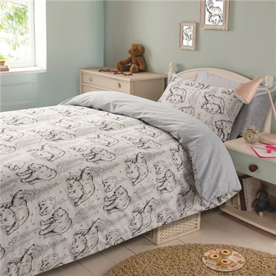 Polar Bear King Size Quilt Set